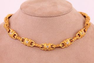 Unknown | 18K Yellow Gold Necklace with Diamonds