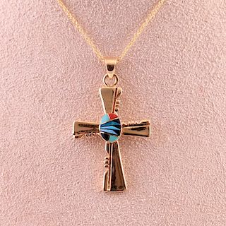 Unknown | Pendant Cross with 14 Karat Gold Chain