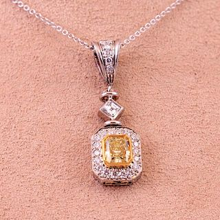 Michael Beaudry | Fancy-Yellow Diamond Necklace