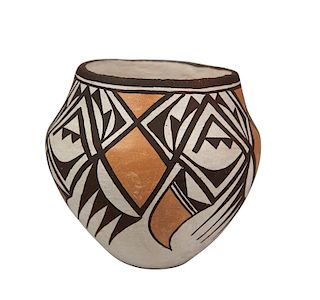 Lucy Lewis | Acoma Bowl with Geometric Patterns