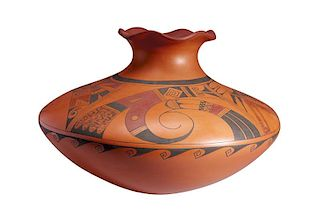 Kathleen Collateta | Hopi Polychrome Pot with Red & Black Design