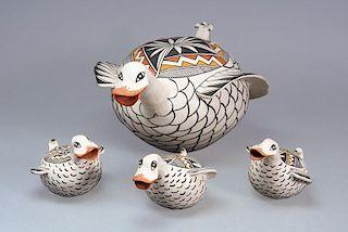 Victoria Garcia   Acoma Pueblo: Duck Family