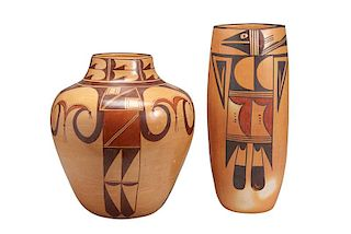 Hopi | Lot of 2: Jar and Vase. Jar: Koo-Loo Nampeyo. Vase: Unknown