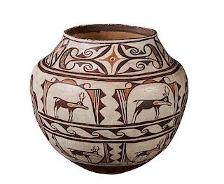 Zuni | Polychrome Olla with Heartline Deer