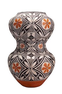 Jessie Garcia | Acoma: Double Pot with Flower Design