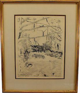 """Pierre Bonnard (French 1867 - 1947) """"Parc Monceau"""""""