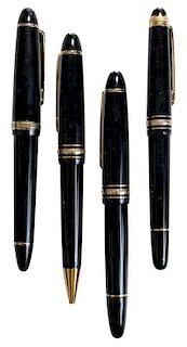 Four Montblanc Writing Instruments