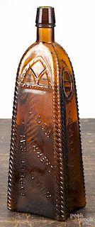 Rohrer's Lancaster, Pennsylvania Wild Cherry Tonic amber bottle, 10 1/2'' h.