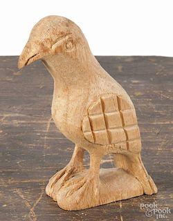 Carved balsa wood eaglet, 20th c., 5 3/4'' h.