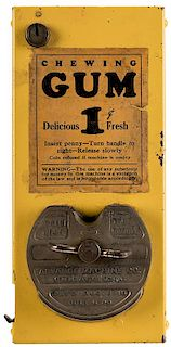 Advance Machine Company 1 Cent Chewing Gum Vendor.