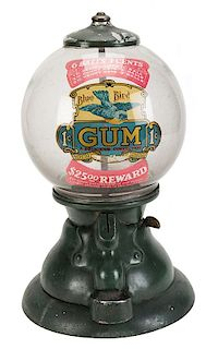 Blue Bird Products Co. 1 Cent, 2 Cent, 3 Cent, 1-2-3-Gumball Vendor.