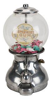 Blue Bird Products Co. 1 Cent Super Mint Gum Vendor.