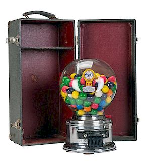 Ford Gum and Machine Company 10 Cent Salesman Sample Gumball Vendor in Original Stamped Case.
