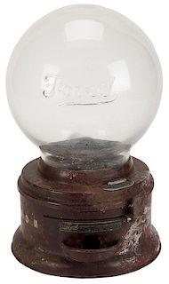 Ford Vending Machine Corp. 1 Cent Gumball Vendor with Original Script Globe.