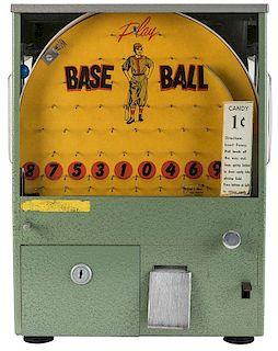 Kholm Mfg. Co. 1 Cent Baseball Gumball Vendor.