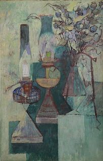 "SHULMAN, Morris. Still Life. ""Lamps and Weeds"""