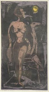 "SAAR, Betye. Color Etching and Aquatint. ""To Catch"