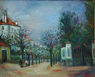 "ZUCKER, Jacques. Oil on Canvas. ""Rue Paul Signac"