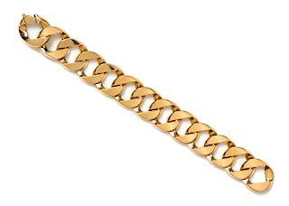 An 18 Karat Yellow Gold Curb Link Bracelet, Verdura, 62.50 dwts.