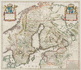 BLAEU, John (1596-1673) Suecia Regnum. [Amsterdam, ca 1672].