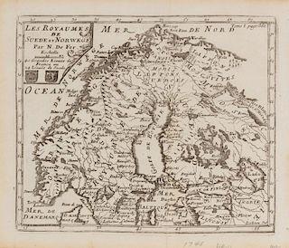 DE FER, Nicolas (1646-1720) Le Royaumes de Suede et Norwege. [Paris, ca 1746].