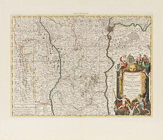 COVENS & MORITER [Lyon region] Sanson, Le Gouvernement General Du Lyonnois... [Amsterdam,] ca 1730.