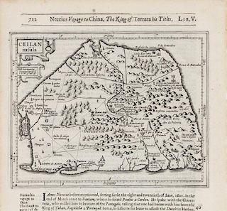 HONDIUS, Henricus - Samuel PURCHAS. Celian insula. [London, ca 1625 or later].