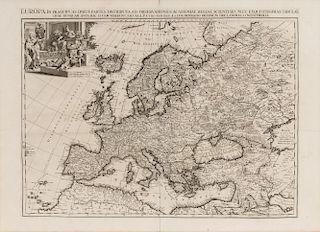 VAN DER AA, Pieter (1659-1733). L'Europe selon les nouvelles Observations de Messrs. de l'Academie des Sciences. Leiden, [171