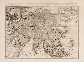 VAN DER AA, Pieter (1659-1733) L'Asie selon les nouvelles Observations de Messrs. de l'Academie des Sciences. Leiden, [1713].