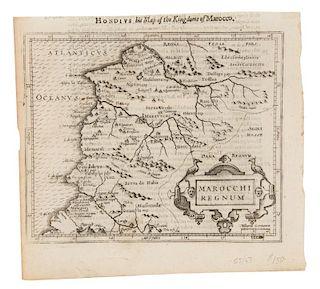 HONDIUS, Henricus - Samuel PURCHAS. Marocchi Regnum. [London, ca 1625 or later].