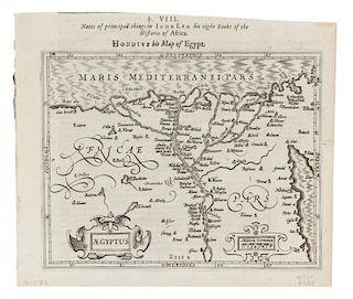 HONDIUS, Henricus - Samuel PURCHAS. Aegyptus. [London, ca 1625 or later].