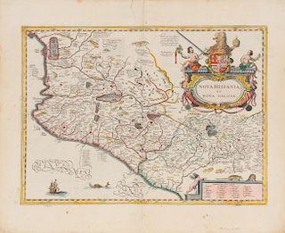 JANSSON, Joannes (1588-1664) Nova Hispania et Nova Galicia. [Amsterdam], ca 1639.