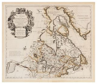 MORTIER & DELISLE . Carte du Canada ou de la Nouvelle France ....[ca. 1708]. FIRST EDITION, FIRST STATE.