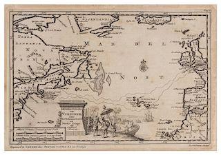 VAN DER AA, Pieter (1659-1733) 't Noorder Gedeelte van Virginie, door Bartholomeus Gosnol en Martin Pringe, uyt Engeland beva