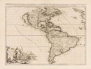 VAN DER AA, Pieter (1659-1733) L'Amerique selon les nouvelles observations de Messrs. de l'Academie des Sciences. Leiden, [17
