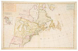 MORTIER, Pieter (1661-1711). Carte nouvelle de L'Amerique Angloise Contenant la Virginie....Amsterdam: Pieter Mortier, [1700]
