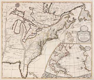 SENEX, John (d.1740) A New Map of the English Empire in America viz Virginia, New York, Maryland, New Iarsey... [London], 171