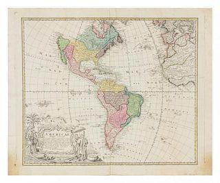 HOMANN HEIRS. Americae Mappa generalis. [Nuremberg, 1746 or later].
