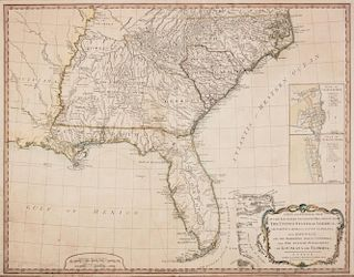 LAURIE, Robert and James WHITTLE. A New and General Map of the Southern Dominions Beloning to the United States of America. 1