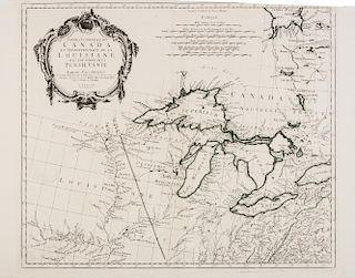 ANVILLE, Jean Baptiste Bourguignon d' (1697-1782) Partie occidentale du Cana et septentrionale de la Louisiane. Venice, 1775.