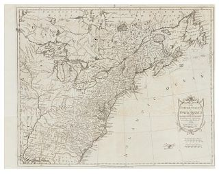 KITCHIN, Thomas (c.1784) Map of the United States in North America... [London,] 1 May 1783.