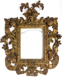 A French Renaissance Gold Gilded Wood Frame