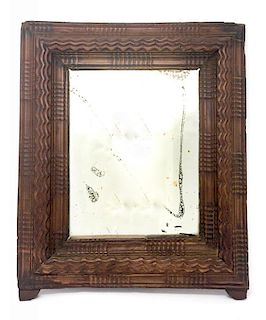 A Renaissance Carved Wooden Frame Wall Mirror