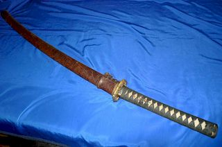 WWII Japanese Army Samurai Officer Sword on singed