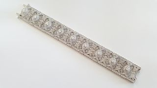 Beautiful 14K White Gold Filigree Bracelet
