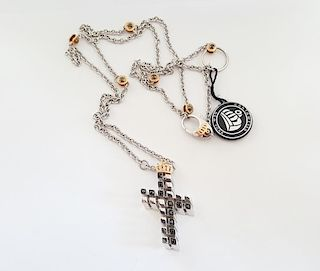 Beautiful 18K Chain Pendant Cross Heavy Cantamessa