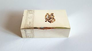 Antique Russian Silver Cigar Box