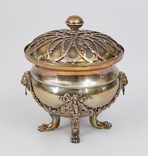 CONTINENTAL SILVER-PLATED BOX AND COVER