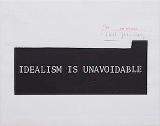 NEIL JENNY (b.1945): IDEALISM IS UNAVOIDABLE