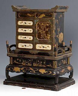 Japanese Takamaki-e Miniature Cabinet